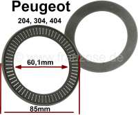 P 204/304/404, needle bearing spring-and-damper unit above (dome bearings). Outside diameter: 85mm. Inside diameter: 60,1mm. Heavy one: 3,6mm. Suitable for Peugeot 204, 304 + 404. - 73083 - Der Franzose