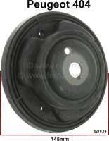 P 404, spring plate in front. Diameter: 145mm. Suitable for Peugeot 404. Per piece - 73074 - Der Franzose