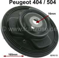 P 404/504, spring plate in front. Diameter 165mm. Suitable for Peugeot 404 + 504. Per piece - 73075 - Der Franzose