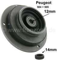 P 504/505, spring plate above. Suitable for Peugeot 504 (sedan + Cabrio) petrols + 505 petrols. It is attached an adapter ring, so it can use a spring-and-damper unit with 12mm + 14mm thread. - 73077 - Der Franzose