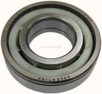 P 404/504/505, bearing for the gearbox main shaft. Suitable for Peugeot 404, Peugeot 504, Peugeot 505. Outside diameter: 75mm. Inside diameter: 35mm. Overall height: 20mm. Or. No. 230810 -1 - 70745 - Der Franzose