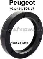 Wheel bearing oil-seal-ring 45x62x10. Peugeot 403, 404, 504, J7. Made in Germany. - 73491 - Der Franzose