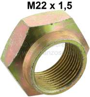 Hub nut rear. Thread: M22 x 1,5. Suitable for Peugeot 204, 304, 205. Or. No. 6935.41 - 73317 - Der Franzose