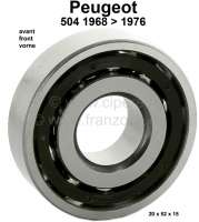 P 504, wheel bearing in front. Dimension: 20 x 52 x 15mm. Suitable for Peugeot 504, of year of construction 1968 to 1976. Or. No. 3735.03 - 73359 - Der Franzose