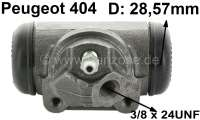 wheel brake cylinder rear left P404 original manufacturer 28,57mm piston, 3/8 x 24UNF screw Made in Spain. - 74164 - Der Franzose