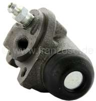 P 404/504, wheel brake cylinder at the rear left, suitable for Peugeot 404, starting from year of construction 5/1968. Peugeot 504 (1.9 + 2.1 Diesel), of year of construction 1970 to 1975. Brake system Bendix. Piston diameter: 22,22mm. Brake line connector: 3/8 x 24UNF. Length totally: about 72mm. Or. No. 4402.24. Made in Europe. -1 - 74418 - Der Franzose
