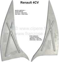 4CV, Triangle sheet metals (2 item) floor pan, suitable for on the left + on the right. For Renault 4CV. | 87884 | Der Franzose - www.franzose.de