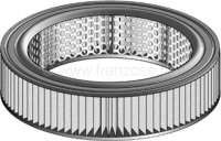 Air filter. Suitable for Renault R16 (1,6l), 55 + 65HP. Outside diameter: 250mm. Inside diameter: 192mm. Amount: 60mm. - 82406 - Der Franzose