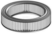 Air filter. Suitable for Renault R5 (R1221, 1220, 1225, 1391, 1392, 1395, 2381, 2382), to year of construction 09/1984. Outside diameter: 220mm. Inside diameter: 141mm. Height: 46mm. Or. No. 7701013347 + 7701019264 - 72356 - Der Franzose