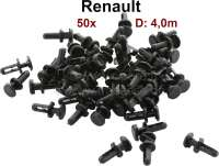 Plastic plug 4mm. Suitable for Renault. Package contents: 50 pieces. - 88018 - Der Franzose