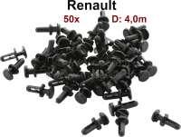 Plastic plug 4mm. Suitable for Renault. Package contents: 50 pieces. | 88018 | Der Franzose - www.franzose.de