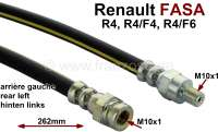 R4 FASA, brake hose at the rear left (short version). Suitable for all Renault (FASA) R4, R4/F4, R4/F6, who have the brake power controller at the rear left, and were mounted in Spain. | 84366 | Der Franzose - www.franzose.de