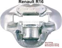 R16, brake caliper, front on the right. Brake system: Girling (2 pistons). Suitable for Renault R16, with 12mm heavy brake disks. Or. No. 7701 012,217. Plus Old part deposit 75 Euro. - 84264 - Der Franzose
