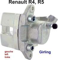 R4/R5, brake caliper, front on the left (new part). Brake system: Lucas Girling. Suitable for Renault R4 + R5. Piston diameter: 45mm. Or. No. 7701201168. Plus deposit for old parts 150 euros. - 84121 - Der Franzose