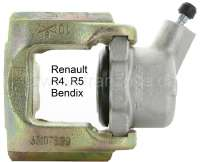 R4/R5, brake caliper front on the left (new part). Brake system Bendix. Suitable for Renault R4 + R5. Return of old-part not necessary. - 84341 - Der Franzose
