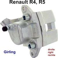 R4/R5, brake caliper, front on the right (new part). Brake system: Lucas Girling. Suitable for Renault R4 + R5. Piston diameter: 45mm. Or. No. 7701020245. Plus deposit for old parts 150 euros. - 84129 - Der Franzose