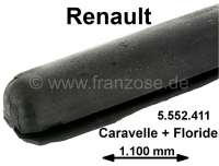 Caravelle/Floride, covering seal, above at the windshield frame (seal between windshield frame and cover or Hardtop). The seal is always mounted on the cover or at the Hardtop. Nearly all Cataveele/Floride requires this seal (there always defective)! Shape profile with rounded corners! Length about 110cm. Suitable for Renault Caravelle + Floride. Or. No. 5552411 - 87783 - Der Franzose