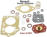 Carburetor repair set Solex 32 PBIT. Suitable for Renault Dauphine + Floride. - 82691 - Der Franzose