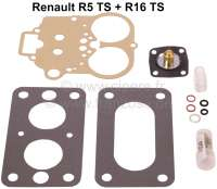 Carburetor repair set Weber 32 DIR 22. Suitable for Renault R5 TS (1289cc) + R16 TS. - 82876 - Der Franzose
