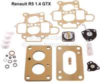 Carburetor repair set Weber 32 DRT, 32 DRT 12/101, 32 DRT 12C/101. Suitable for Renault R5 1,4GTX (1397cc). - 82880 - Der Franzose