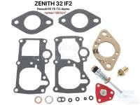Carburetor repair set Zenith 32 IF 2. Suitable for Renault R5 TS-TX-Alpine (1387cc). - 82878 - Der Franzose
