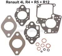 Solex 32 EISA-3, Carburetor sealing set. Suitable for Renault R4, R5, R12. - 82669 - Der Franzose