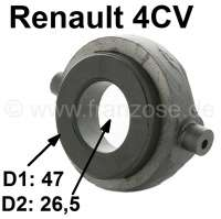 4CV, clutch release sleeve clutch, with graphitic coil. Suitable for Renault 4CV. Outside diameter graphitic coil: 47mm. Inside diameter graphitic coil: 26,5mm. The bearing is a strengthened reproduction. - 82675 - Der Franzose