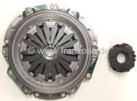 Clutch completely. Suitable for Renault R4 (852cc + 1108cc), to year of construction 1975 (R2106, R2109 1968>, R2391, R1120, R1123, R1126). Gearbox 354. The clutch has 160mm diameter, the clutch disk 20 teeth. Brand quality (VALEO). Or. No. 7701464763 (complete). 7701033150 (clutch disk). 7701032876 (pressure plate). 7701616841 (clutch release sleeve) -2 - 82096 - Der Franzose