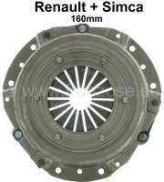 Clutch plate, 160mm. Suitable for Renault R8 + R10. Simca 1000 (all models). - 82213 - Der Franzose