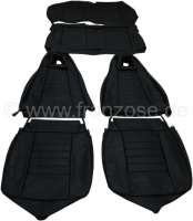 R5, coverings (2 x front seat, 1x rear seat). Suitable for Renault R5 TS. Material: Vinyl black. - 88233 - Der Franzose