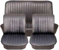 R8, coverings (2 x front seat, 1x rear seat). Suitable for Renault R8 Major. Material: Vinyl black. - 88237 - Der Franzose
