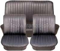 R8, coverings (2 x front seat, 1x rear seat). Suitable for Renault R8 Gordini. Material: Vinyl black. - 88238 - Der Franzose