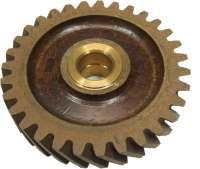 4CV, spur gear (Novotex) of 31 teeth. Suitable for Renault 4CV, of year of construction 1949 to 1952. Inside diameter: 18mm. Outside diameter: 97,7mm. -1 - 80006 - Der Franzose