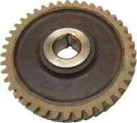 4CV/Dauphine/Floride/Juvaquatre, camshafts drive wheel (Novotex). 42 teeth. Outside diameter: 132mm. Inside diameter: 24mm. Original from Ferrozell! -1 - 81251 - Der Franzose