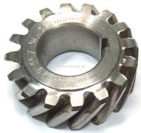 4CV/Dauphine/Floride/Juvaquatre. Crankshaft gear wheel (steel). 16 teeth. Inside diameter: 25mm. Outside diameter: 53,5mm. Wide one: 19mm. -1 - 81267 - Der Franzose