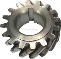 4CV/Dauphine/Floride/Juvaquatre. Crankshaft gear wheel (steel). 16 teeth. Inside diameter: 25mm. Outside diameter: 53,5mm. Wide one: 19mm. | 81267 | Der Franzose - www.franzose.de