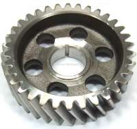 R4, Camshaft gear wheel (steel). Suitable for Renault R4 (early years of construction). Engine: 680-02 to engine number 363854. Engine: 800-01 to engine number 207836. 34 teeth. Inside diameter: 28mm. Outside diameter: 99,9mm. -2 - 81266 - Der Franzose