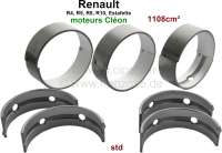 R4/R5/R8/R10/Estafette, crankshaft bearing (5 bearings, C = Cleon). Wide one: 5x 19,47mm. Standard dimension. For crankshaft from 54,783 to 54,793mm. Suitable for Renault engines: 688 1, C1E700, C1E754, C1E715, C1E720, C1E750. Engine capacity: 1108cc. - 81087 - Der Franzose