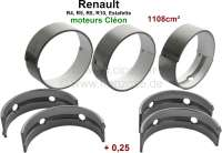 R4/R5/R8/R10/Estafette, crankshaft bearing (5 bearings, C = Cleon). Wide one: 5x 19,47mm. 1 oversize (+, 0,25). Suitable for Renault engines: 688 1, C1E700, C1E754, C1E715, C1E720, C1E750. Engine capacity: 1108cc. - 81088 - Der Franzose