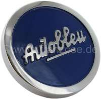 4CV/Dauphine/Floride, oil filler-cap blue, for valve cap from aluminum. Color: blue. Suitable for Renault 4CV, Dauphine + Floride. | 80165 | Der Franzose - www.franzose.de