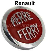 4CV/Dauphine/Floride, oil filler-cap red, for valve cap from aluminum. Color: red. Suitable for Renault 4CV, Dauphine + Floride. | 80164 | Der Franzose - www.franzose.de