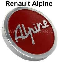 Alpine, oil filler-cap Alpine, for valve cap from aluminum. Color: red. Suitable for Renault Alpine | 80166 | Der Franzose - www.franzose.de
