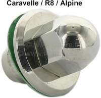 Caravelle/R8/Alpine, valve cap from aluminum: Suitable polished cap nut with seal, for the valve cap. - 80181 - Der Franzose