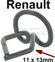 Clip for upholstered seat securement at the seat metal frame, for Renault R4. Fitting for front seat and rear seat. - 88128 - Der Franzose