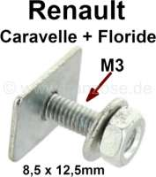 Floride/Caravelle, clip for the door lining (angular with 15mm threaded pin). Suitable for Renault Floride + Caravelle. | 88827 | Der Franzose - www.franzose.de