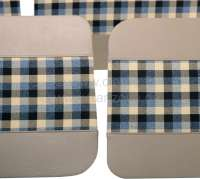 R4, door lining (4 item), from vinyl + material. Color: beige-cross-hatched. Suitable for Renault R4, starting from year of construction 1980 -1 - 88025 - Der Franzose