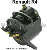 Light + horn switch. Suitable for Renault R4.  It is only the switch. The operating lever must be taken over. Or. No. 7701015011 * 7701015007. - 85246 - Der Franzose