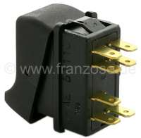 Rocker switch for the warning signal light. Suitable for Renault R4, starting from year of construction 1984. Renault R5. -2 - 85043 - Der Franzose