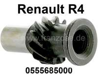 Oil pump drive shaft (distributor drive shaft) for Renault R4. Engine B1B + 800. 11 teeth, inside finetooths. For distributors with 1 spade. (The shaft at the distributor is flat). Or. No. 0555685000 | 81066 | Der Franzose - www.franzose.de