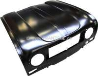 R4, Bonnet, for angular indicators. The bonnet does not have a ventilation louver under the radiator grill. Suitable for Renault R4. The bonnet can have light dents, since it comes from a production of the eighties. Shipping only by freight forwarder. -2 - 87101 - Der Franzose